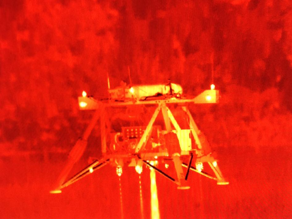 Infrared View of Mighty Eagle Lander