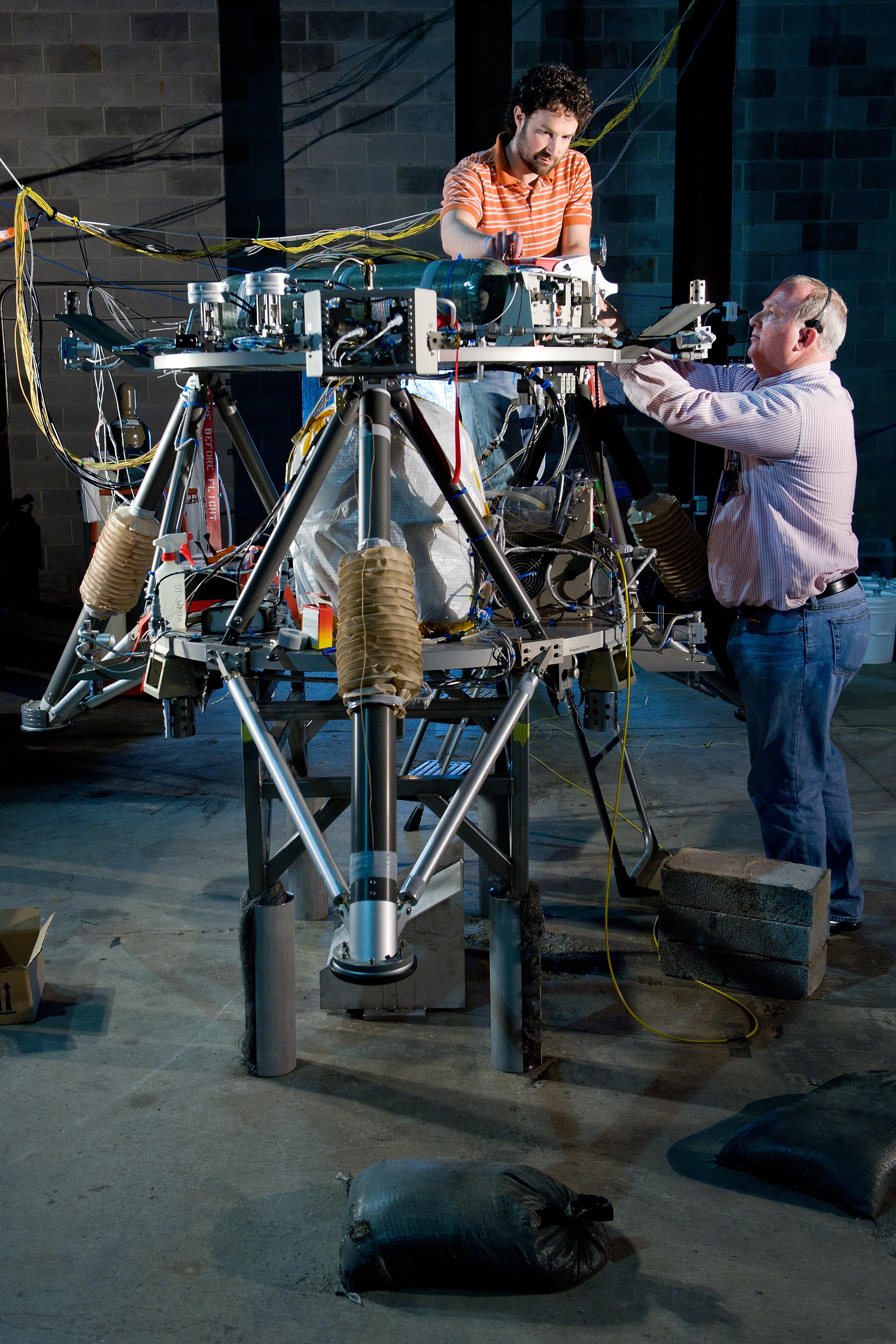 Engineers Prepare for Testing