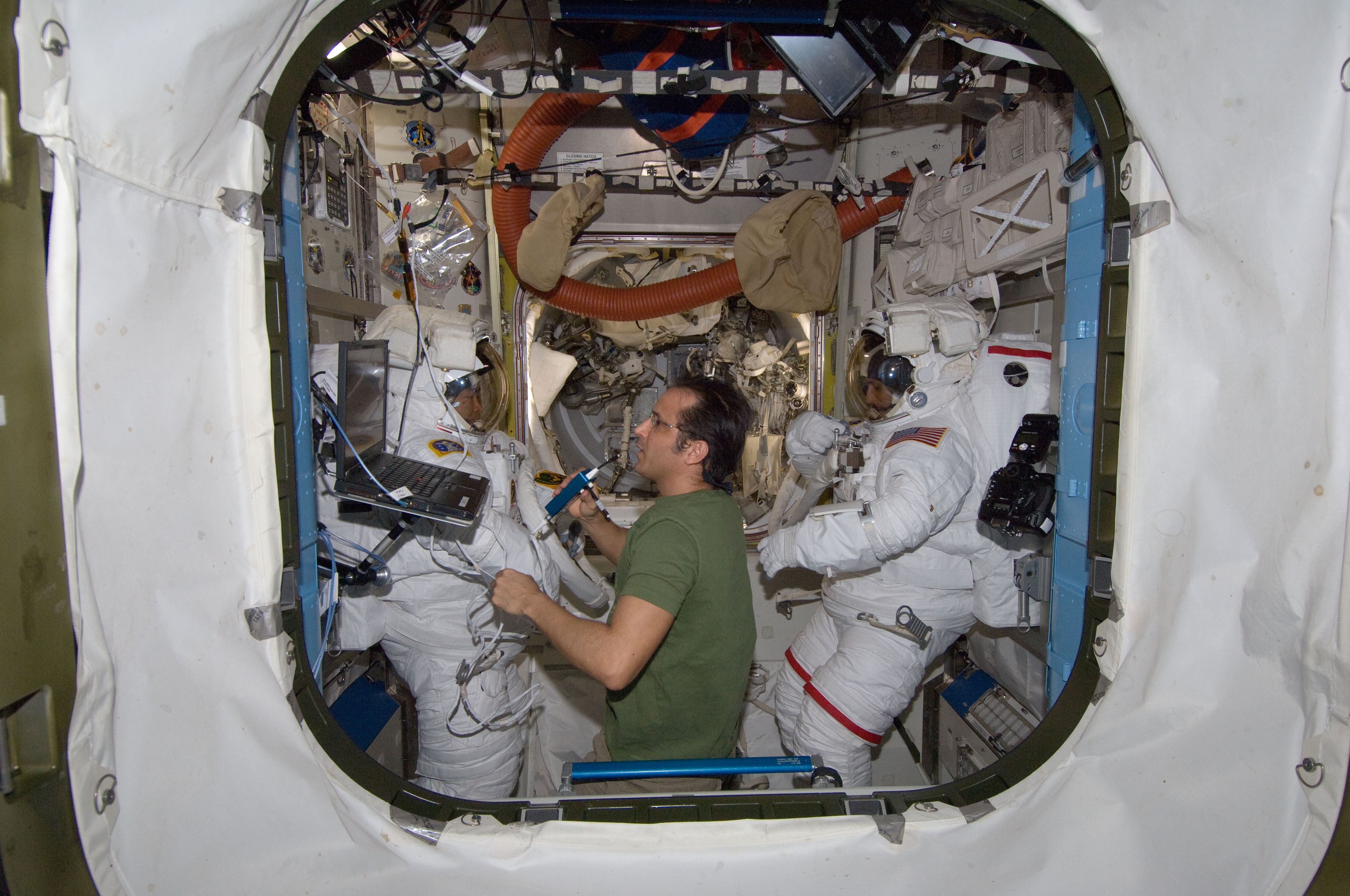 Astronauts in the Airlock