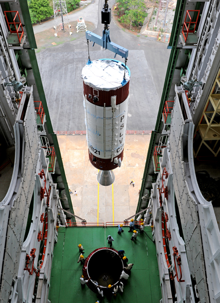 India's 100th Rocket Launch Takes Shape