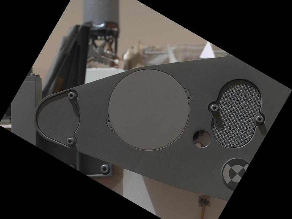 Sealed Organic Check Material on Curiosity