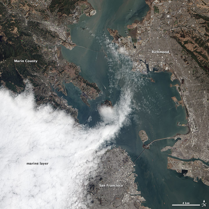Satellite Sees Fog Roll Into San Francisco