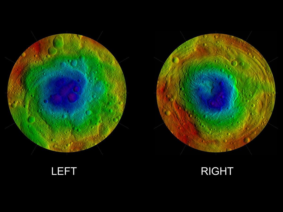 Vesta's Two Hemispheres