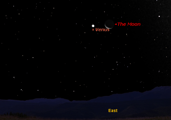 Venus, Moon and Space Beehive Shine Together Early Wednesday