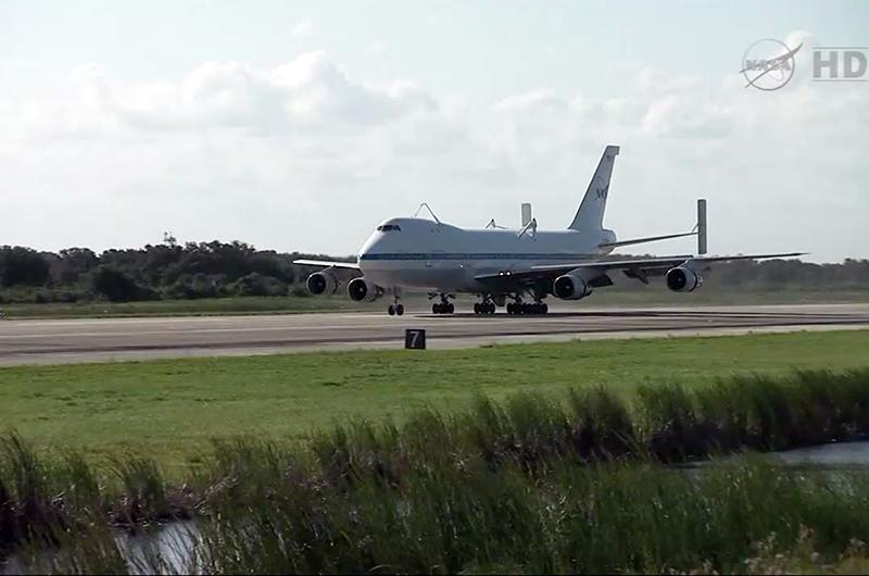 NASA Jumbo Jet Arrives in Fla. for Final Space Shuttle Ferry Flight