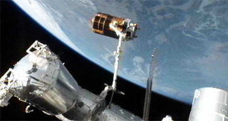 Japan's Robotic Cargo Ship Leaves Space Station
