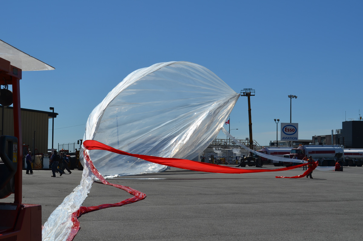 Canadian Space Agency Inflating New Balloon Launch Project