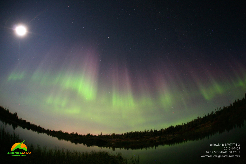 Aurora over Yellowknife, Canada, September 5, 2012