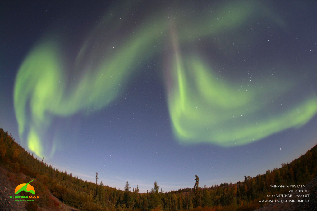 Aurora over Yellowknife, Canada, September 2, 2012 #2