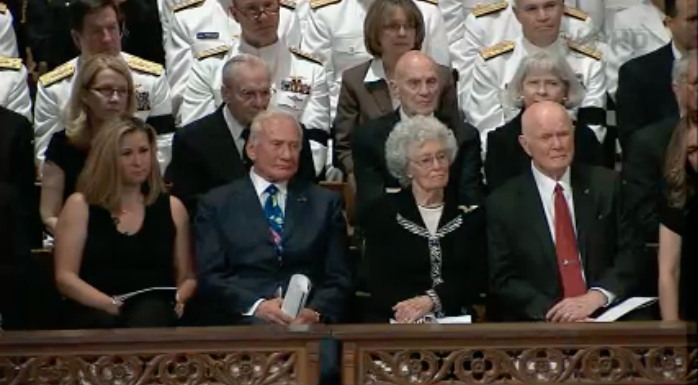 Buzz Aldrin, John Glenn at Armstrong Memorial