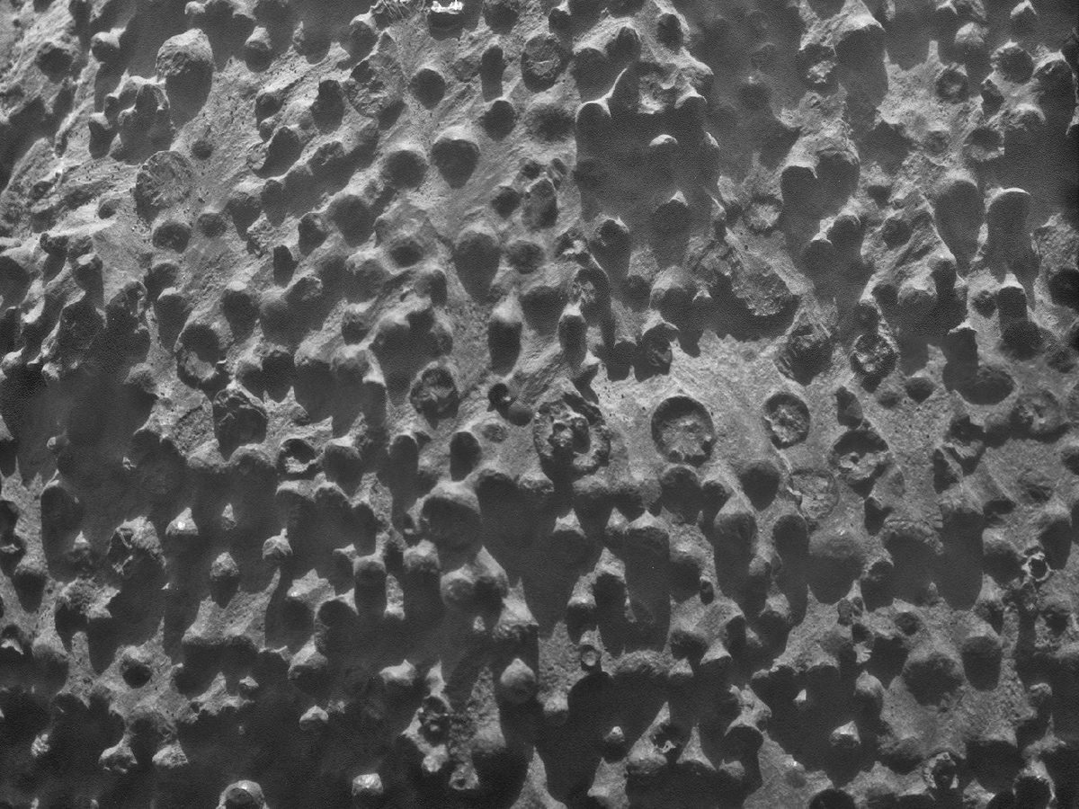 Spherules Seen by Mars Rover Opportunity