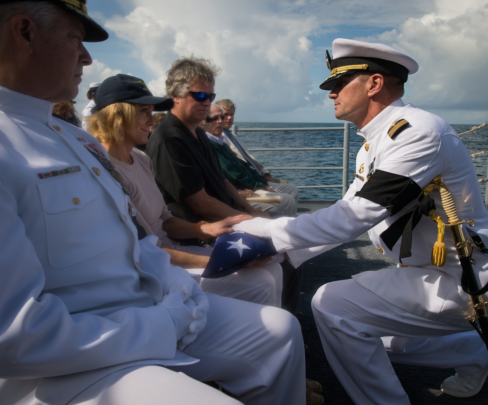 Neil Armstrong Buried at Sea: Family Flag