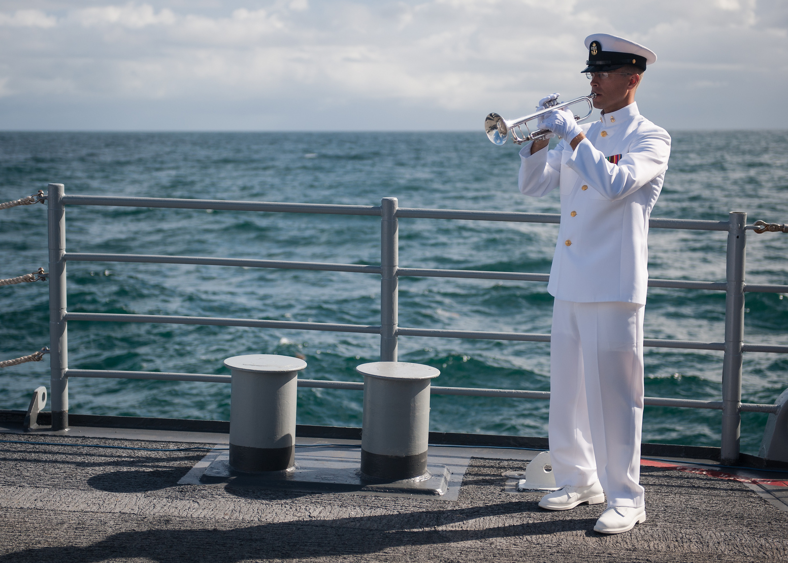 Neil Armstrong Burial at Sea: Taps