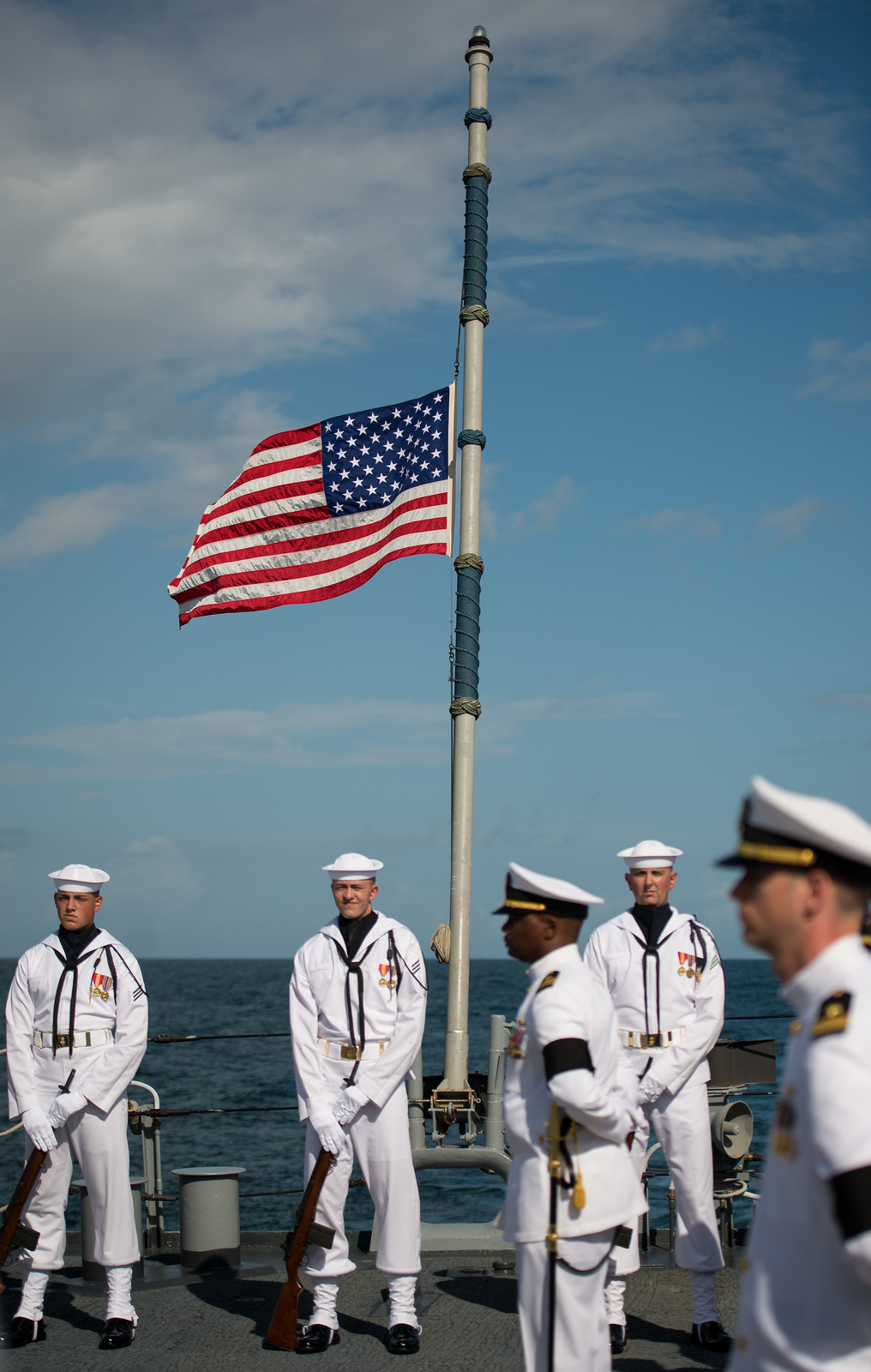 Neil Armstrong Buried at Sea: Half Mast