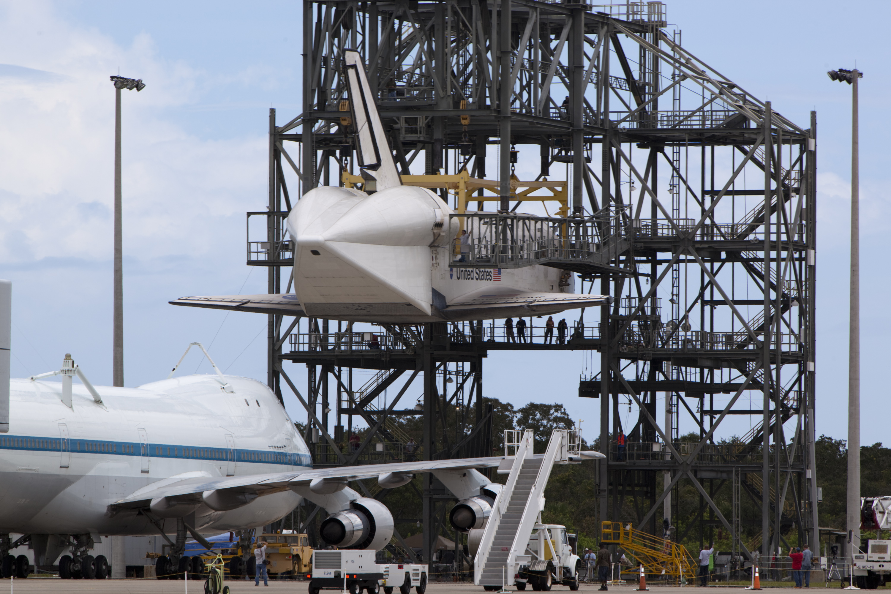Shuttle Endeavour Attached to 747