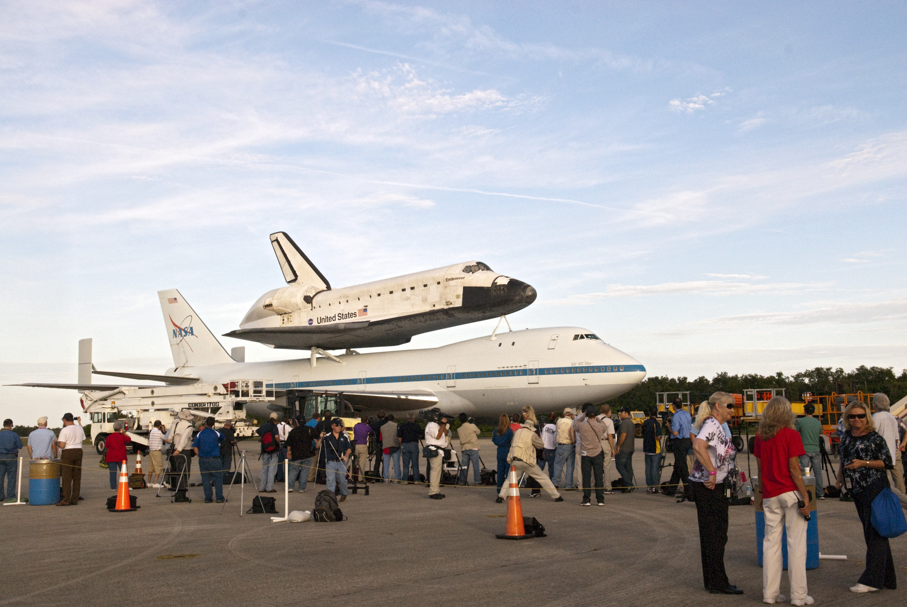 Shuttle Endeavour Prepared for Last Ferry Flight