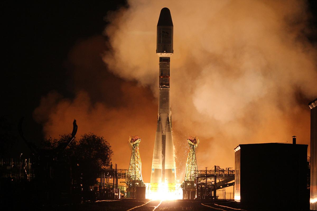 Russian Soyuz Rocket Launches New European Weather Satellite