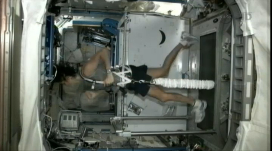 NASA Astronaut Completes 1st Triathlon in Space