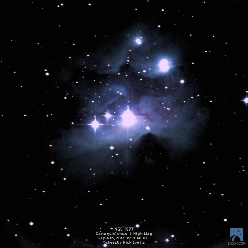 Running Man Nebula by Slooh Space Camera