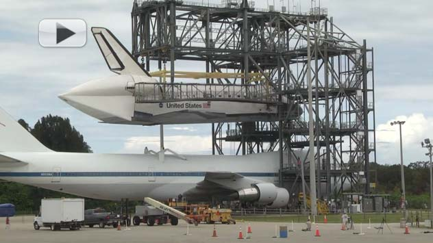 Endeavour and 747 Mated - Time-Lapse Video