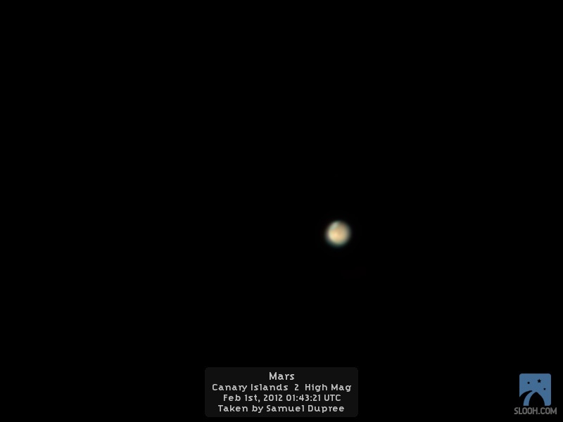 Mars by Slooh Space Camera