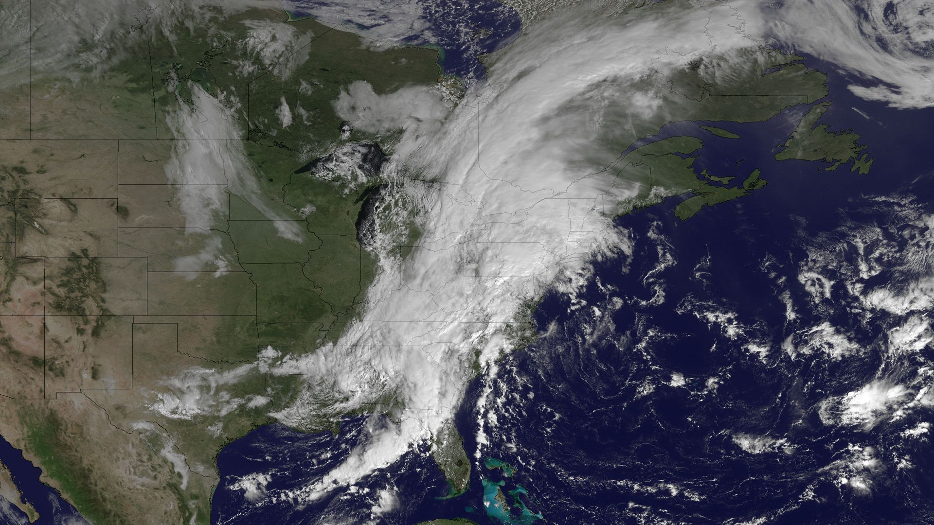 Satellite Spies Dangerous East Coast Weather System