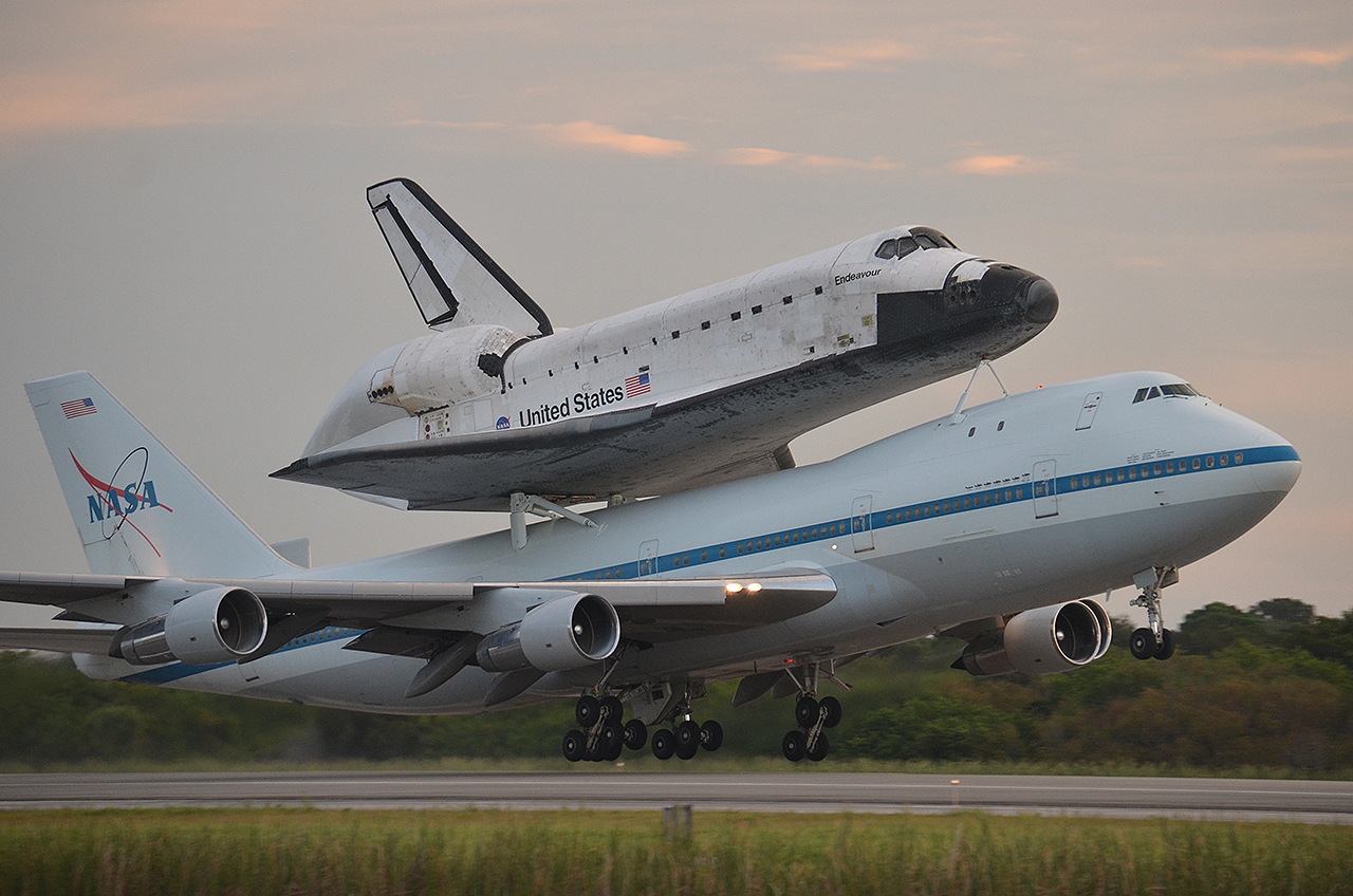 Space Shuttle Endeavour Departs Florida on Final Ferry Flight
