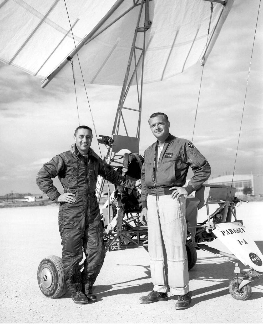 Space History Photo: Gus Grissom & Milt Thompson With Paresev