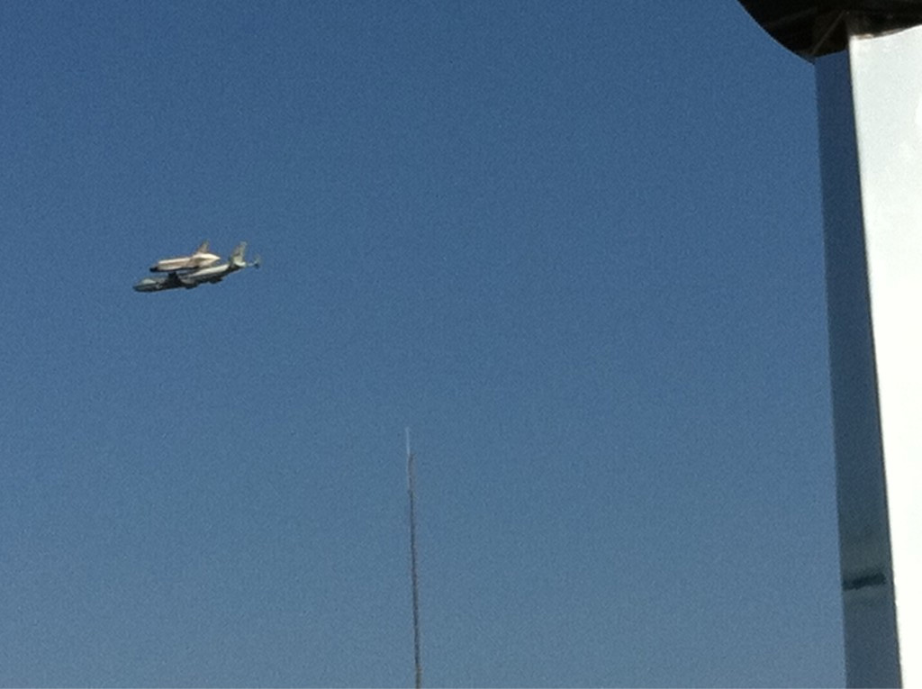 Endeavour's Flyover of Stennis Space Center