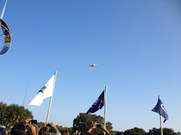 Endeavour Flyover of Stennis Space Center