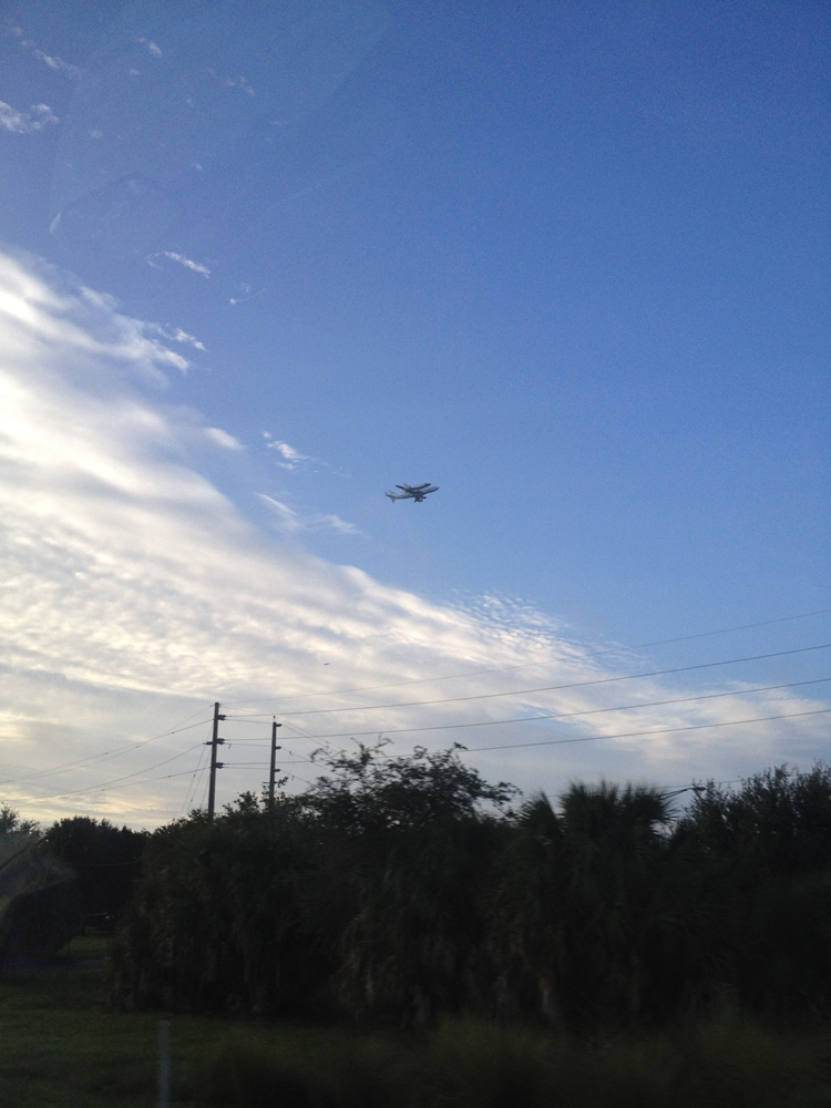 Endeavour Flyover of Orlando International Airport