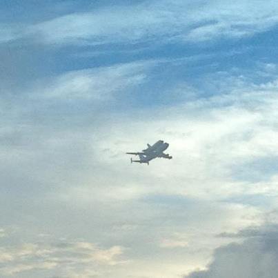 Endeavour over Patrick Air Force Base