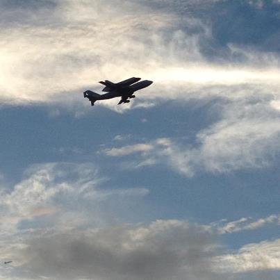Endeavour over Patrick Air Force Base #2
