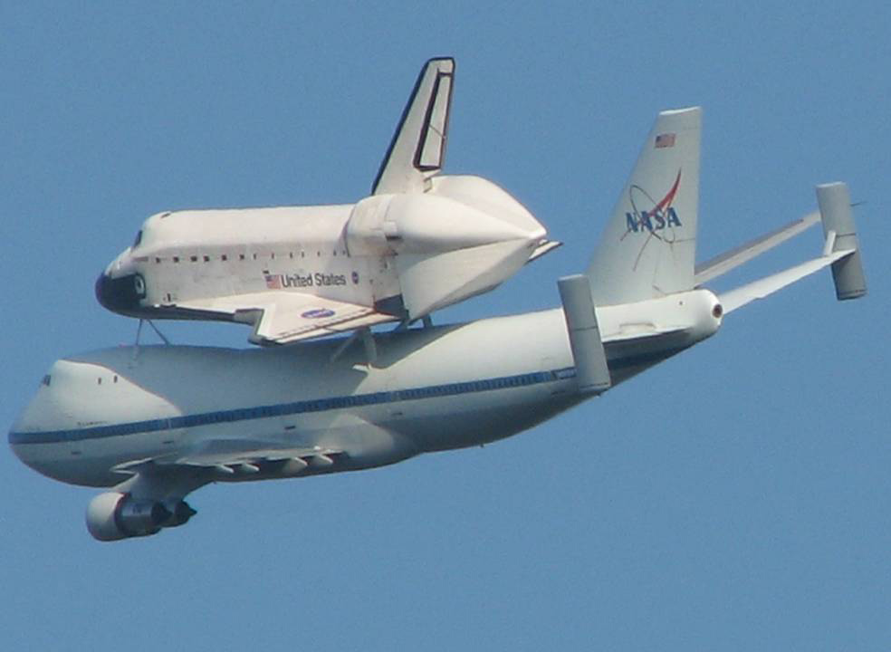 Endeavour over Stennis