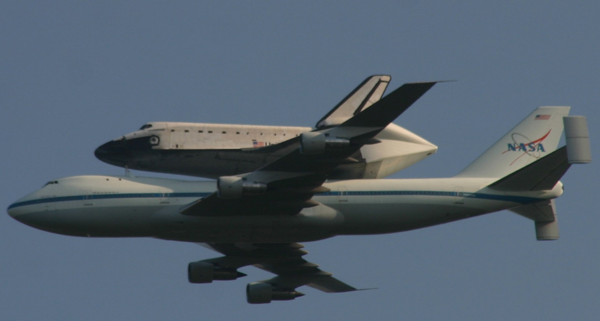 Endeavour Flying over Stennis Space Center
