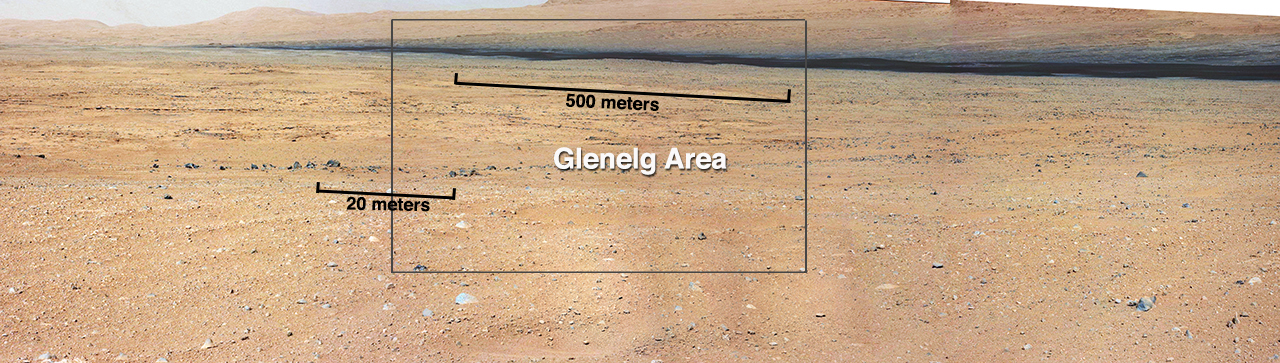 Curiosity Mars Rover Views Glenelg Features