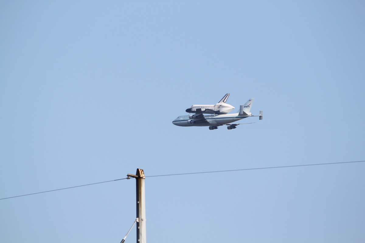 Endeavour over Metairie, LA