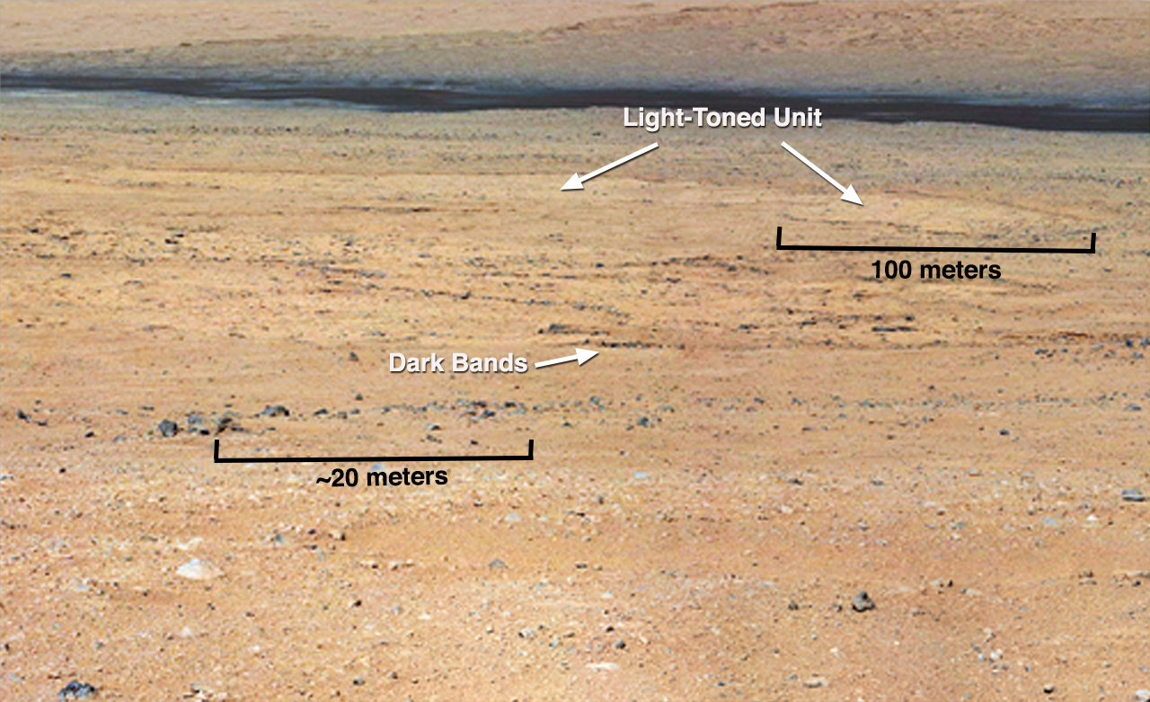 Curiosity Mars Rover's Close Views Glenelg Features