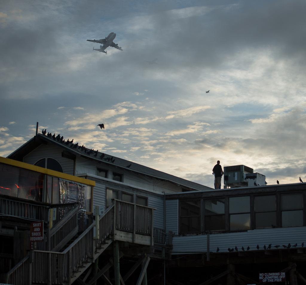 Shuttle Endeavour over Cocoa Beach Pier
