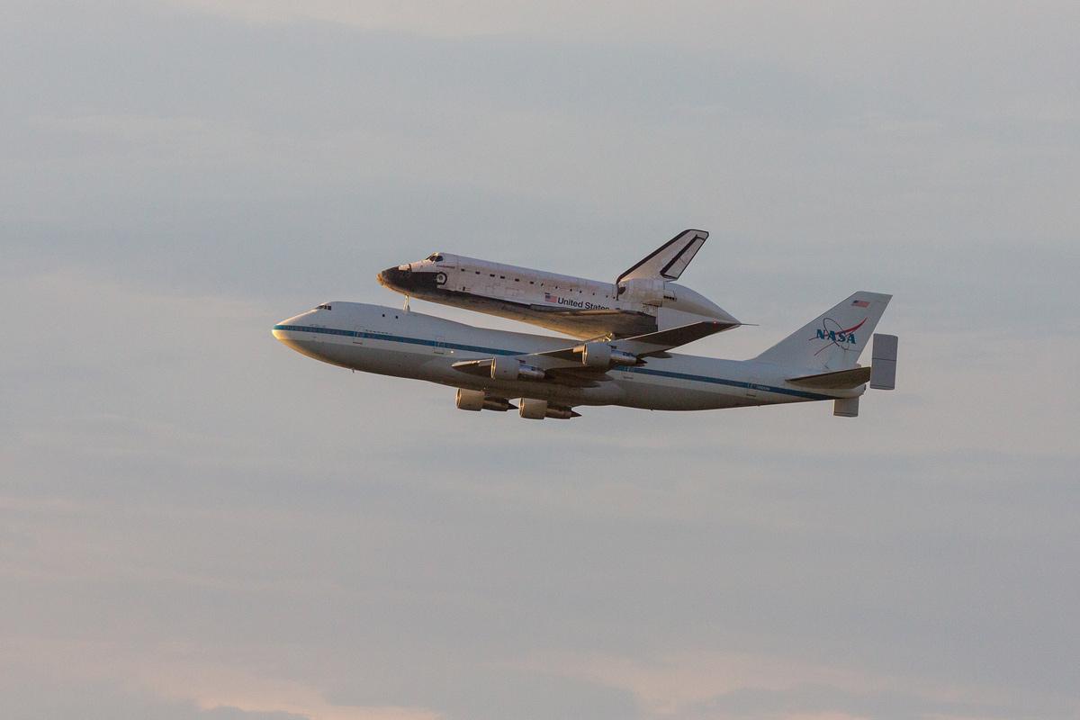 Space Shuttle Endeavour in Sunrise Light