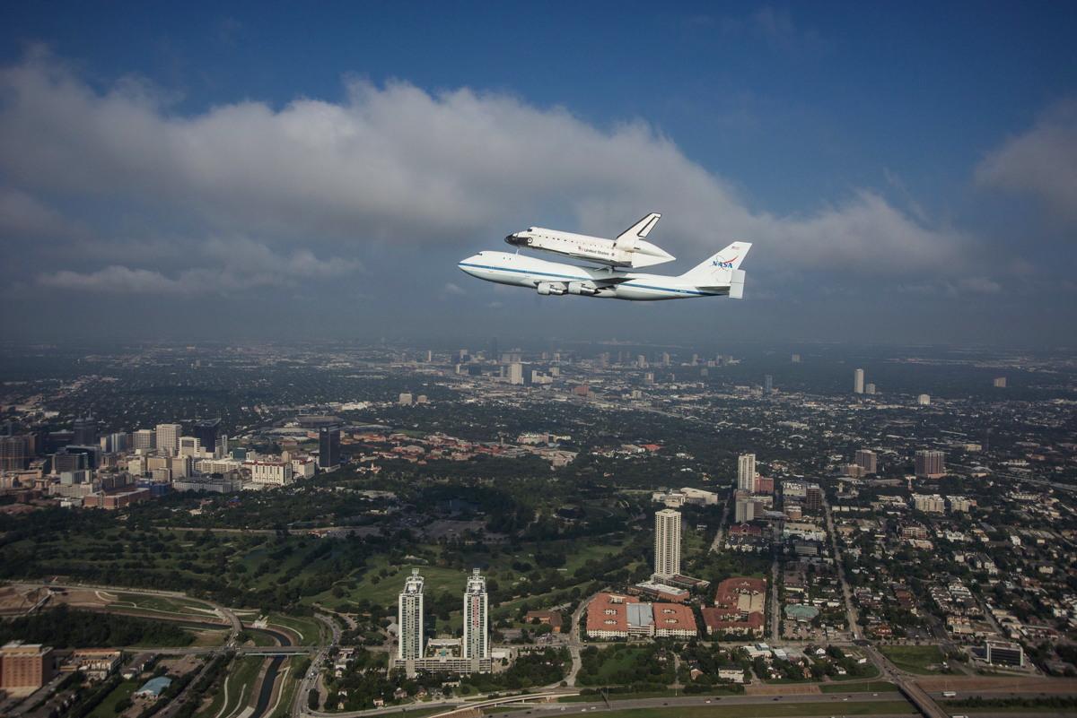 Endeavour Flyover Houston, TX