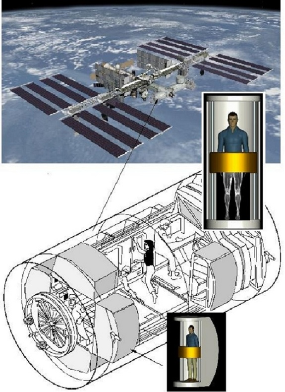 A compact version of MRI medical scanners could study astronaut health aboard the space station or on future planetary bases.