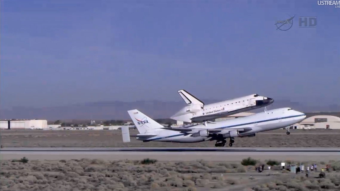 Endeavour Takeoff from Edwards Air Force Base