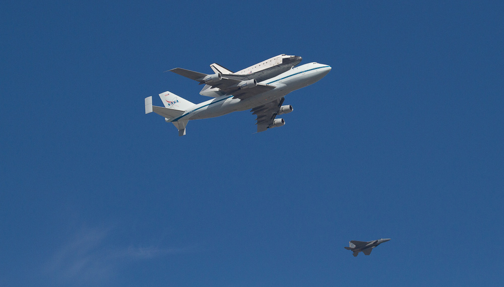 Endeavour over Redwood City, CA