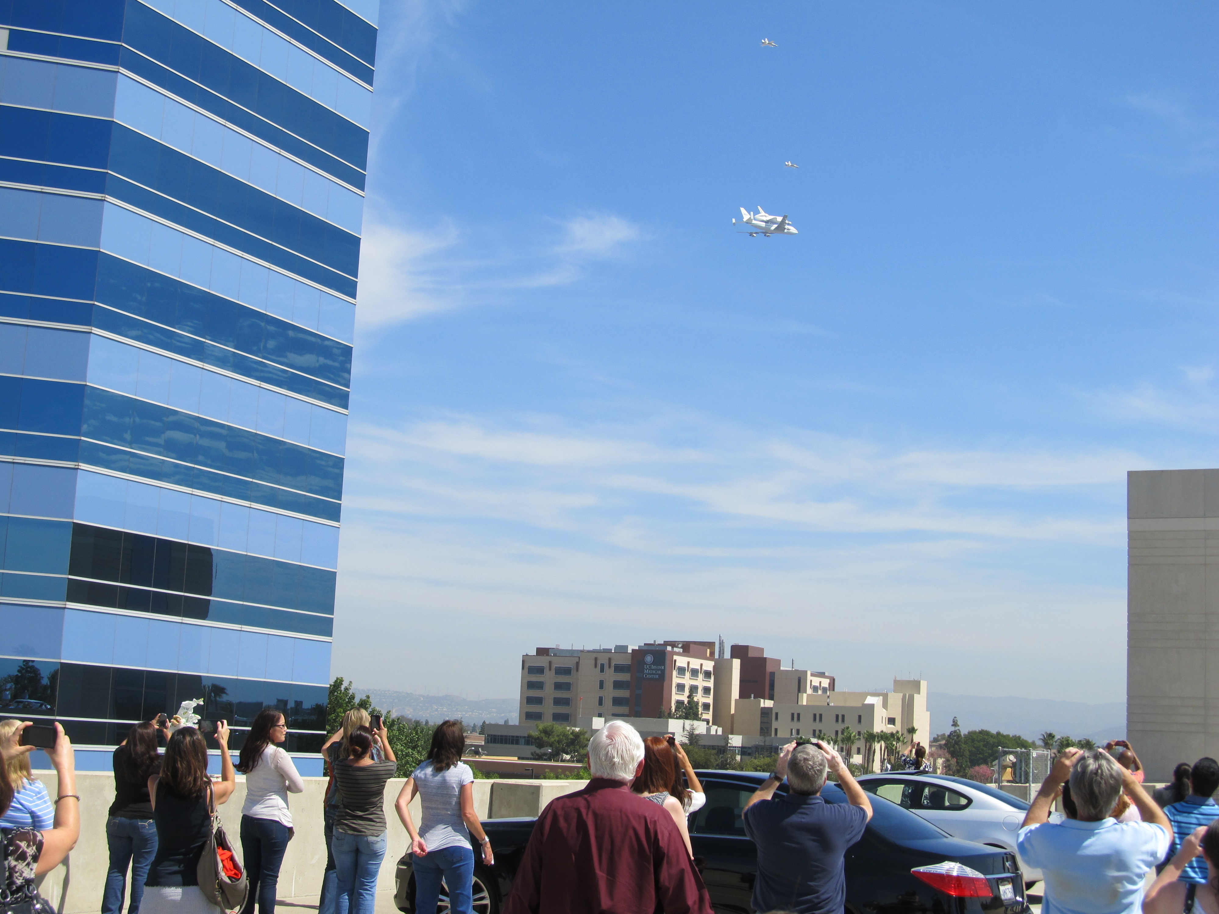 Shuttle Endeavour Over Irvine, Calif.