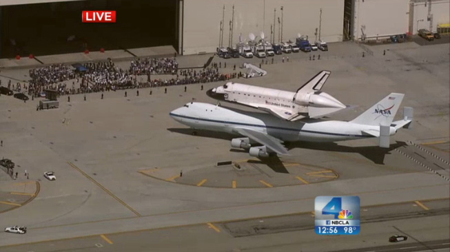 Endeavour on Runway at LAX