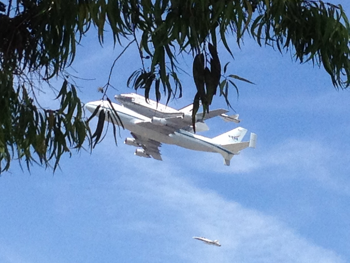 Endeavour over USC Campus