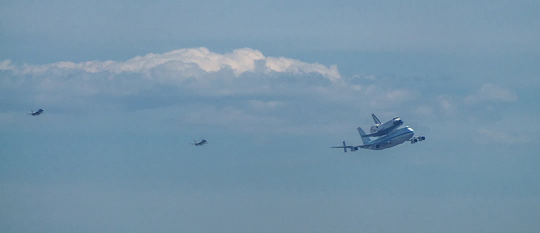 Shuttle Endeavour Seen from Inglewood, CA #2