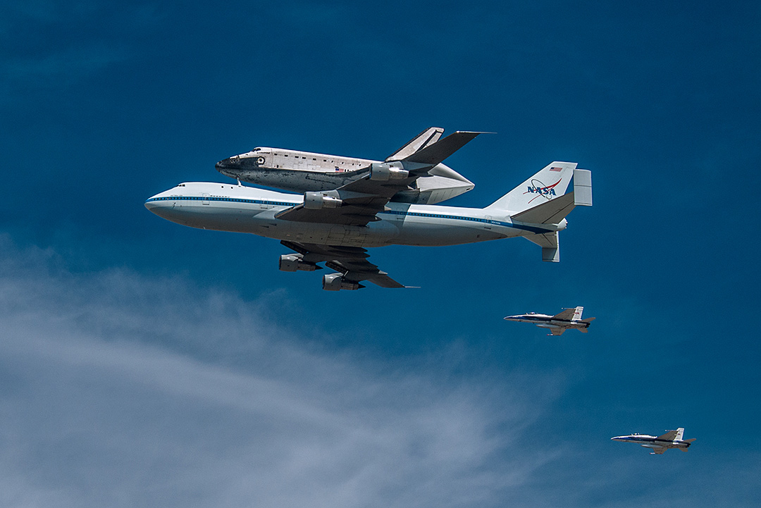 Shuttle Endeavour Seen from Inglewood, CA #3