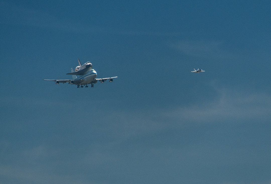 Shuttle Endeavour Seen from Inglewood, CA #5